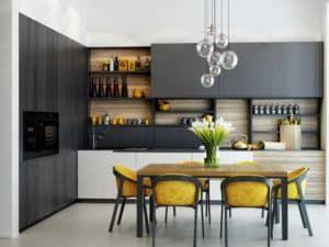 Интерьер кухни в современном стиле 2