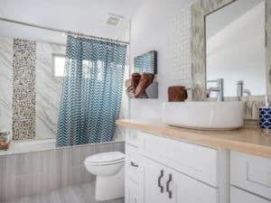 Интерьер маленькой ванной 1