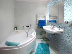 Интерьер маленькой ванны 2