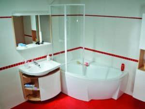 Интерьер маленькой ванной 2