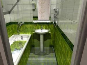Интерьер маленькой ванны 1