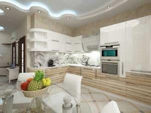Кухня в светлых тонах 2