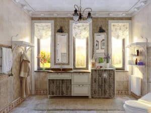 Мебель для ванной в стиле Прованс 3