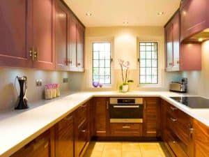 Дизайн прямоугольной кухни 3