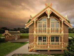Русский деревянный дом 1