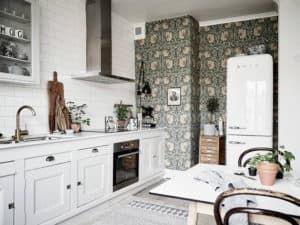 Обои на кухне в скандинавском стиле 2