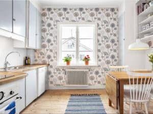 Обои на кухне в скандинавском стиле 3