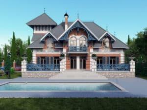 Дом в стиле русский терем 1