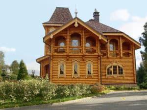 Дом в стиле русский терем 2