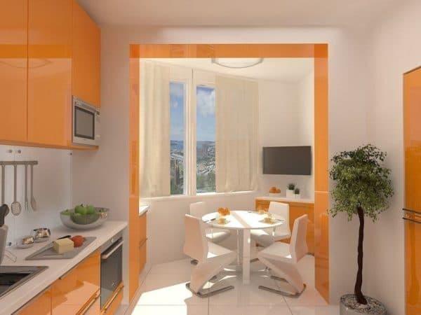 Кухня в ярких цветах