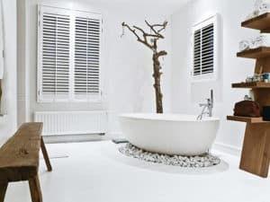 Скандинавский стиль в интерьере ванной 1