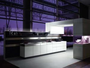 Кухонный гарнитур в стиле хай-тек 1