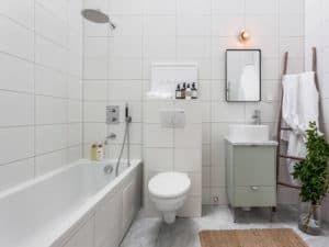 Скандинавский стиль в интерьере ванной 2