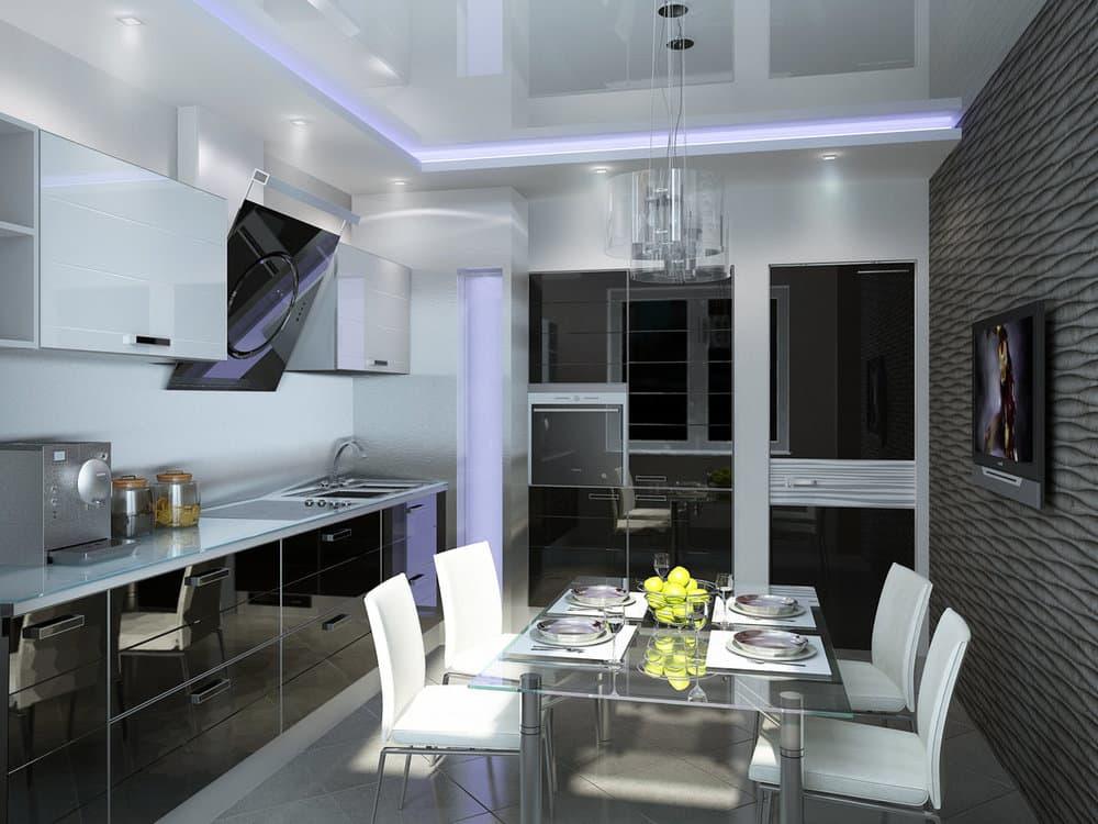 Кухонный гарнитур в стиле хай-тек
