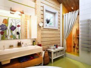 Скандинавский стиль в интерьере ванной 3