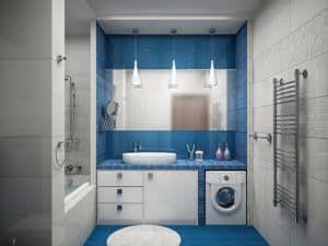 Планировка для большой ванной комнаты 1