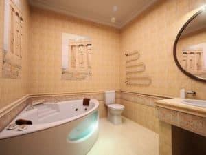 Планировка для большой ванной комнаты 3