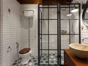 Скандинавский интерьер ванной комнаты 1