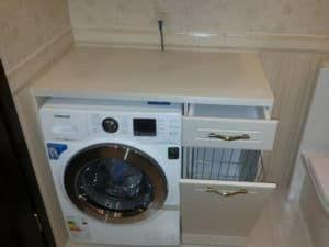 Размещение стиральной машинки в ванной 3