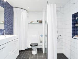 Скандинавский интерьер ванной комнаты 2