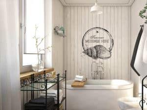 Скандинавский интерьер ванной комнаты 3