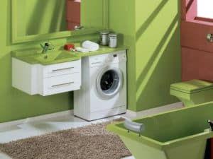 Размещение стиральной машинки в ванной 1