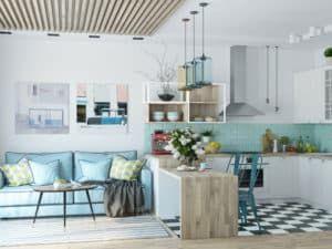 Кухня-гостиная в скандинавском стиле 1