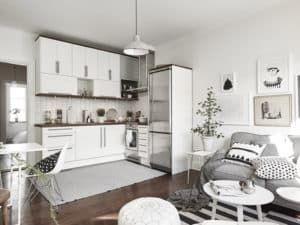Кухня-гостиная в скандинавском стиле 3