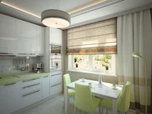 Дизайн кухни в спокойных тонах 3