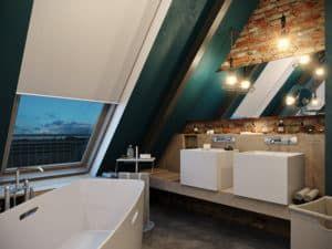 Освещение в ванной в стиле лофт 1