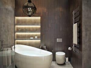 Освещение в ванной в стиле лофт 2
