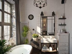 Освещение в ванной в стиле лофт 3