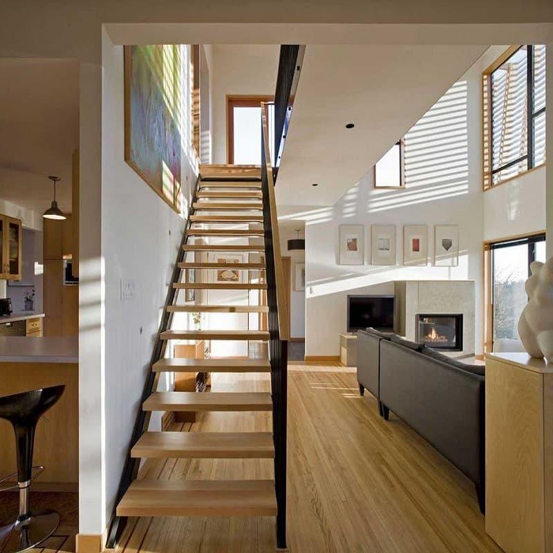 Прямоугольная кухня в стиле минимализм