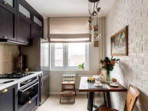 Интерьер прямоугольной кухни 2