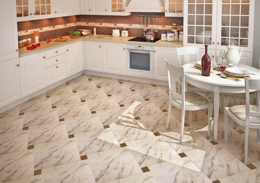 Плитка на пол на кухне