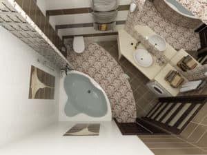 3Д проект ванной комнаты