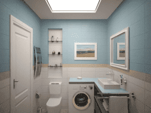 3Д проект ванной комнаты 3