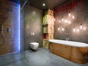 Дизайн ванной комнаты в стиле лофт 1