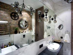 Дизайн ванной комнаты в стиле лофт 2