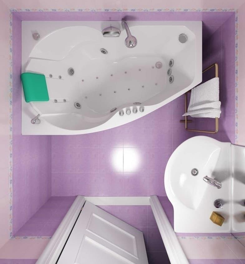 Нежно-сиреневая ванная