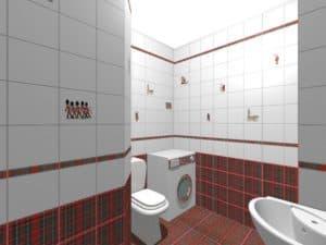 3Д проект ванной комнаты 1
