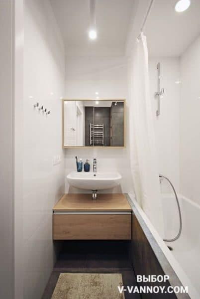 Бюджетный вариант ванной комнаты