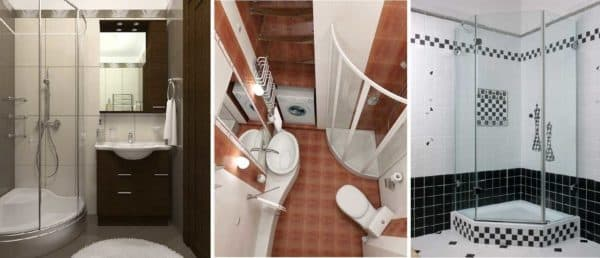 Варианты планировки ванной с душевой кабиной
