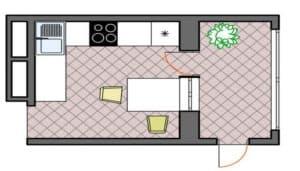 Планировка кухни 8 кв м_2
