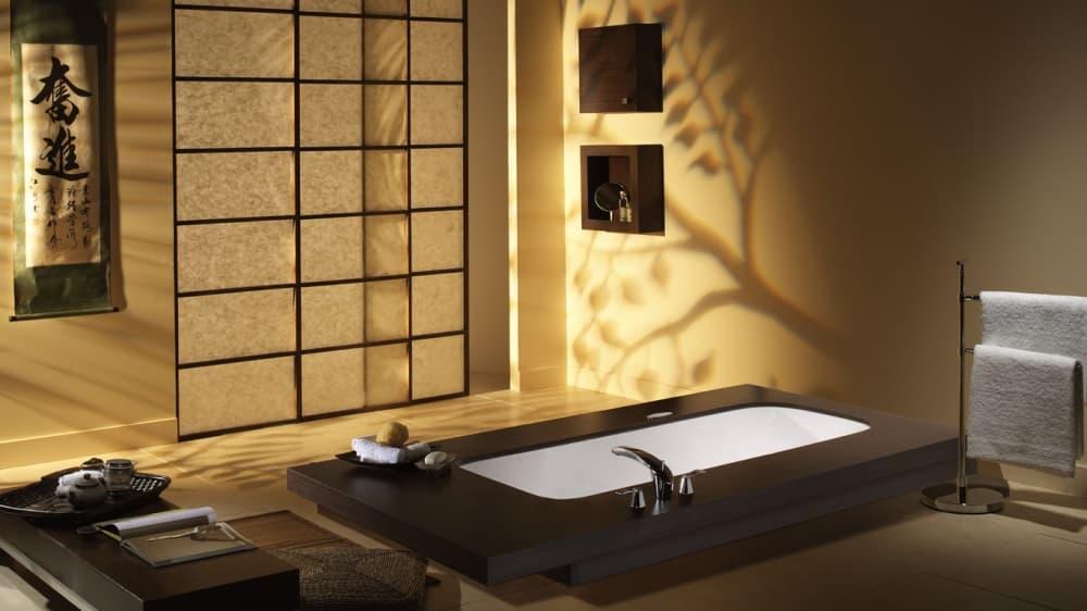 Японский минимализм в ванной