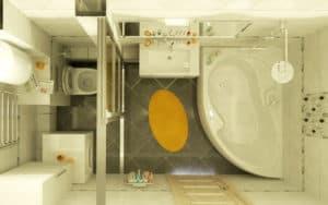 Планировка ванной комнаты (фото 3)