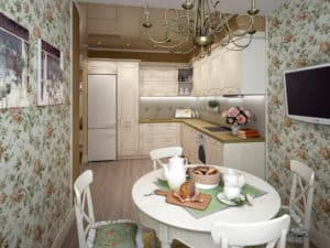 Кухня c интерьером прованс 2