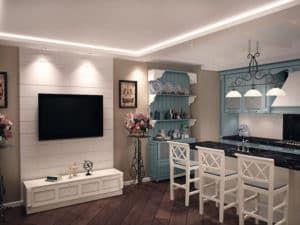 Дизайн кухни в стиле прованс 2