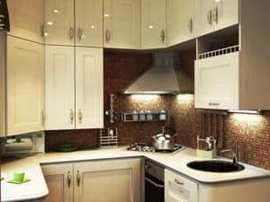 Фотопример дизайна кухни в хрущевке 3