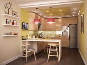 Зонирование на кухне 2
